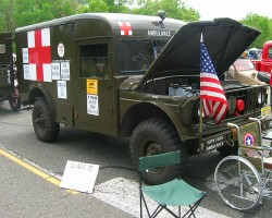 1968 Jeep Army ambulance.  (Owned by Jack White)