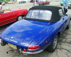 1969 Alfa Romeo Spider convertible.  (Owned by Ed Geller)