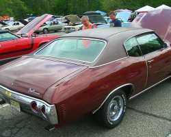 1971 Chevrolet Chevelle hardtop coupe with vinyl roof covering.  (Owned by Pete Malowe)
