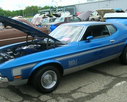 1972 Ford Mustang Mach 1 coupe.  (Owned by Steve Gialanella)