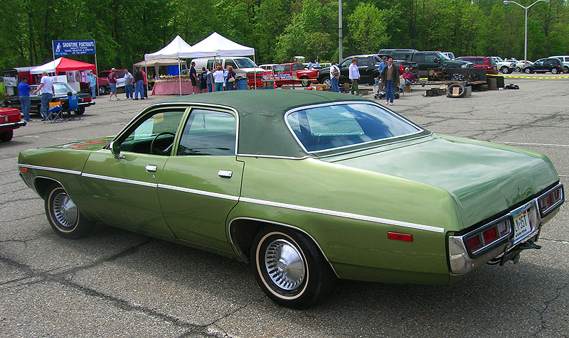 1972 Plymouth Satellite 4-door sedan.  (Owned by Ron Lecarl)