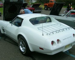 1974 Chevrolet Corvette coupe with luggage rack.  (Owned by Dan Della Pia)
