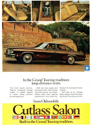 1974 oldsmobile cutlass salon ad classic cars today online for 1974 oldsmobile cutlass salon for sale