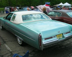 1976 Cadillac Coupe de Ville, rear view.  (Owned by Lawrence Littman)