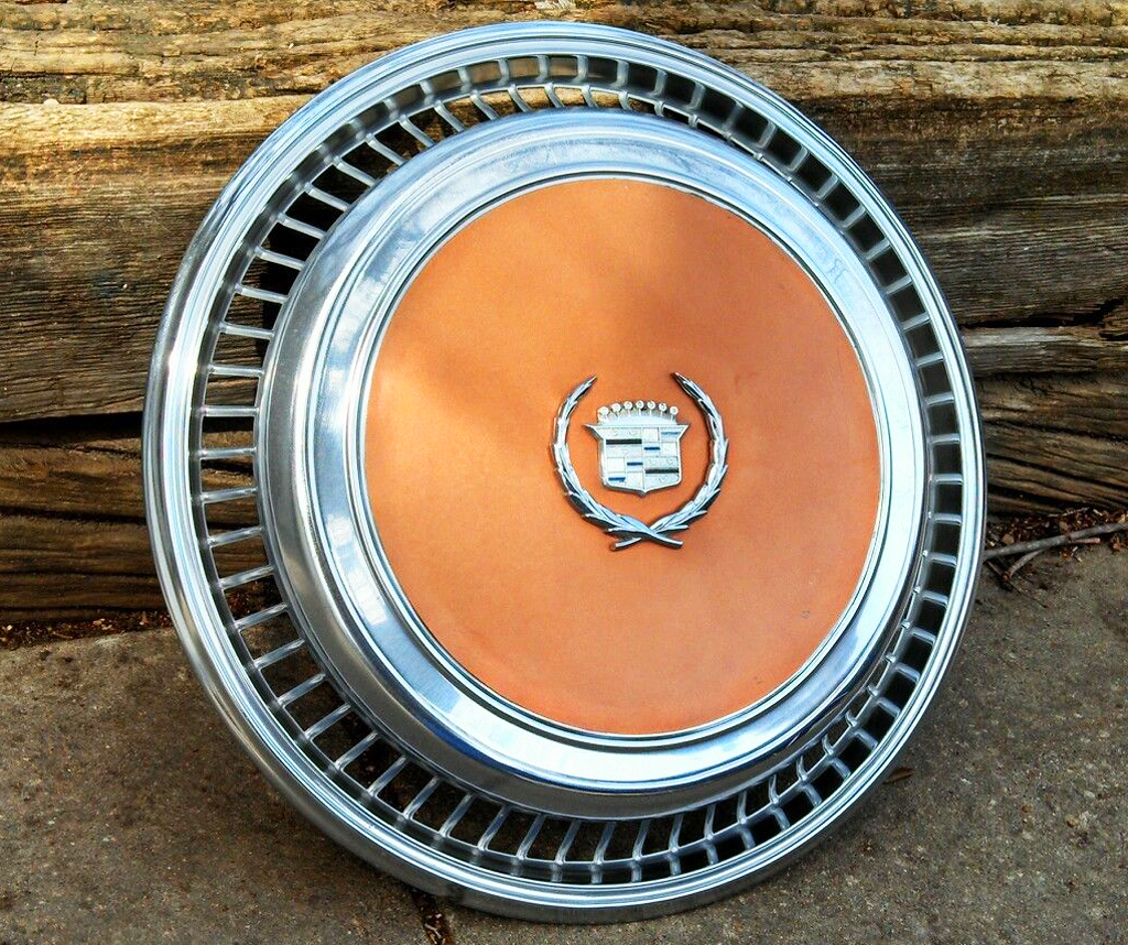 orange, cadillac, eldorado, wheel cover