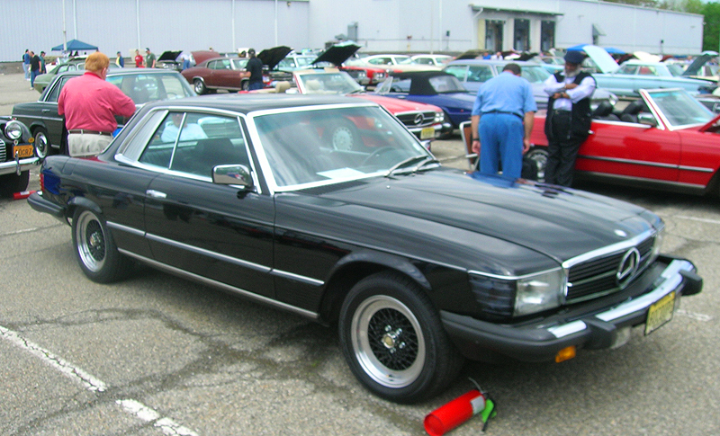 1980 Mercedes 450SLC 4-passenger coupe.  (Owned by Michael Goldberg)