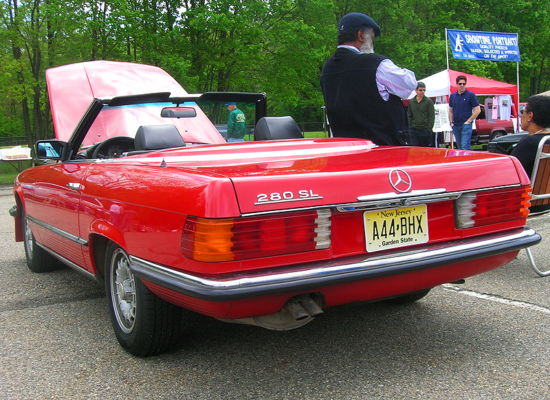 1985 Mercedes 280SL convertible.  (Owned by Ronald Scott)