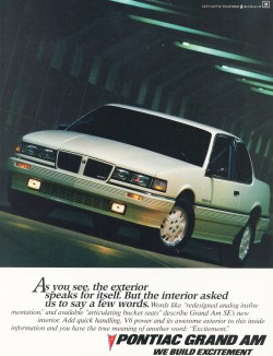 1986 pontiac grand am se