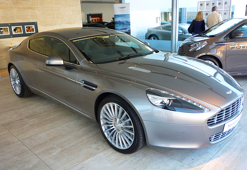 The production version of Aston Martin's latest 4-door, the Lagonda Rapide, introduced for the 2011 model year.  (Photo credit: A. Cox)