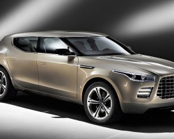 Aston Martin claims they are readying this sport utility vehicle for production.  It is built off Mercedes-Benz GL-class underpinnings, with a 5.9-liter V-12 Aston engine driving all four wheels.  (Photo credit: Aston Martin Lagonda Limited)