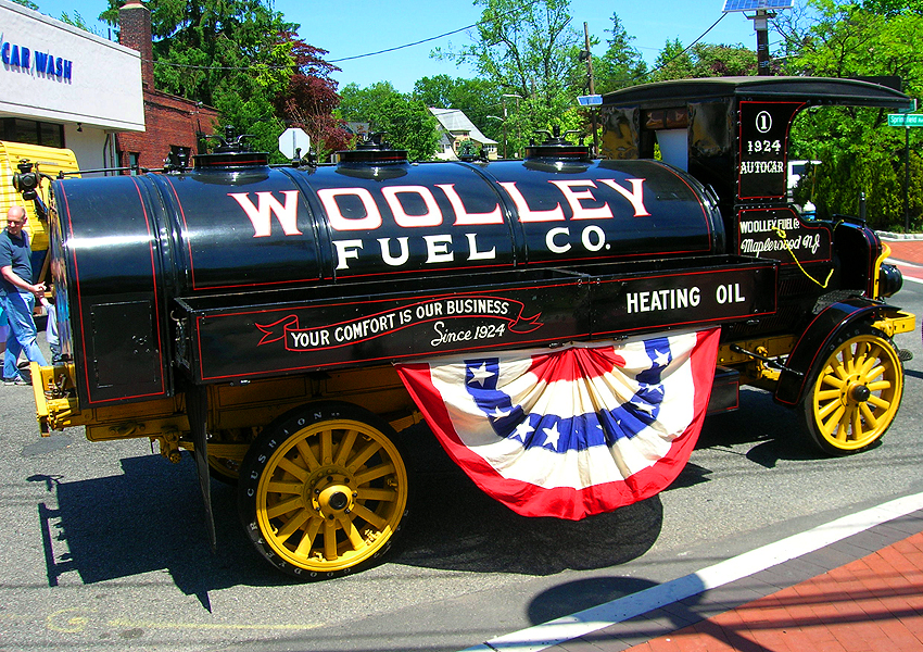 Wooley Fuel Company supplied one of their first oil delivery trucks from 1924, built by Autocar.  (Photo credit: Sean Connor)