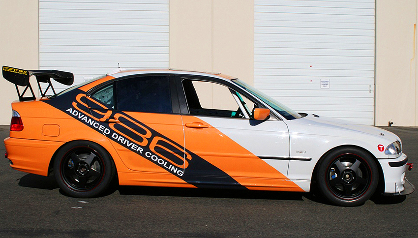 Traditional use of modern style vinyl wrap is for decal application.  (Photo credit: E. Jones)