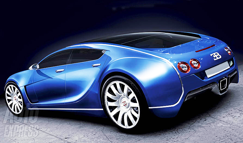 With almost 1,000 horsepower, Bugatti claims its Veyron 4-door will be the fastest 4-seater in the world.  (Photo credit: Auto Express)