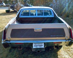 Rear view of a 1970 Eldorado customized into a pickup truck.  (Photo credit: D. Hartford)