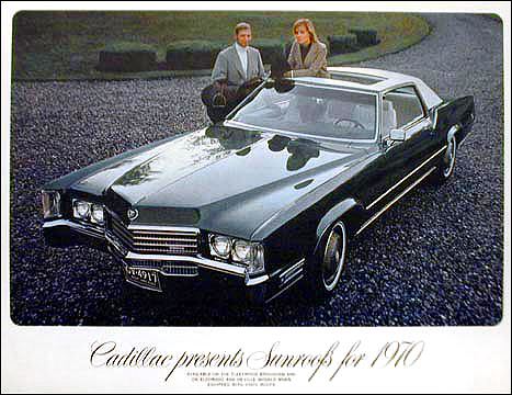 1970 Cadillac Eldorado sunroof promotional picture