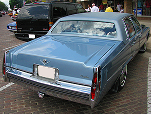 1979 Cadillac Sedan de Ville with vinyl padded roof.