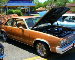 A 1979 Chevrolet Malibu coupe, equipped with factory color-matched rallye sport wheels.  (Photo credit: Sean Connor)
