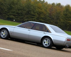 The styling of the low-slung sedan was the work of the same stylists that designed Ferrari's Dino, Daytona, P5, and more.  (Photo credit: Wikicars)