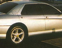 Three of these 4-door sedans were based on the new-for-1993 Ferrari 456 front-engine four seater coupe.  Built by Pininfarina (the design house which does regular work for Ferrari on production models), they both were commissioned especially for Nafsas Al Khaddaja of South Belgium.  (Photo credit: Wikicars)