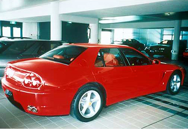 The small batch of Ferrari 456 sedans created for Nafsas Al Khaddaja are the only known ones in existence.  (Photo credit: Len Jeffard)