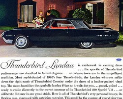 1962 Ford Thunderbird Landau edition advertisement.