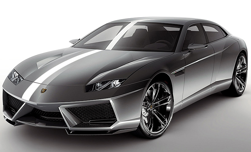 The Lamborghini Estoque 4-door was introduced at the 2008 Paris Motor Show, and despite being classed as a concept car, the Estoque is being seriously considered for production.  (Photo credit: Lamborghini S.p.A.)