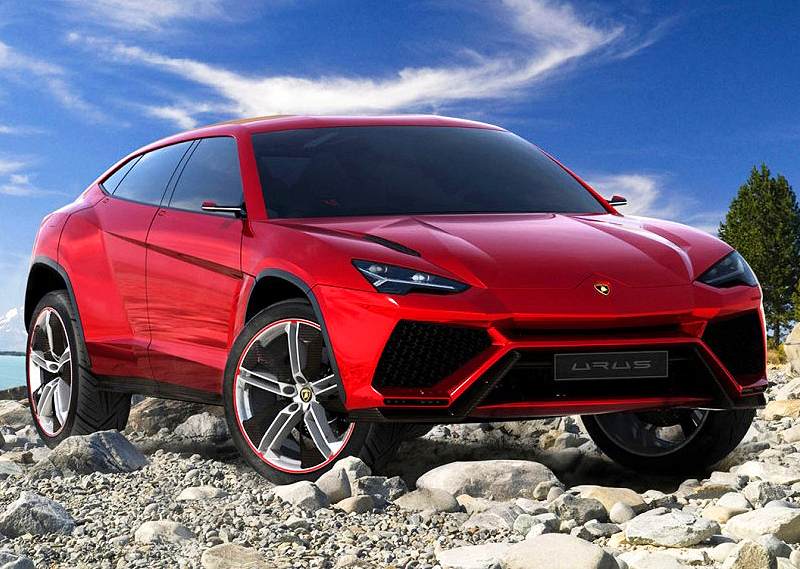 Lamborghini displayed this Urus sport utility concept on the 2012 auto show circuit, and is seriously considering production of it.  (Photo credit: Lamborghini S.p.A.)