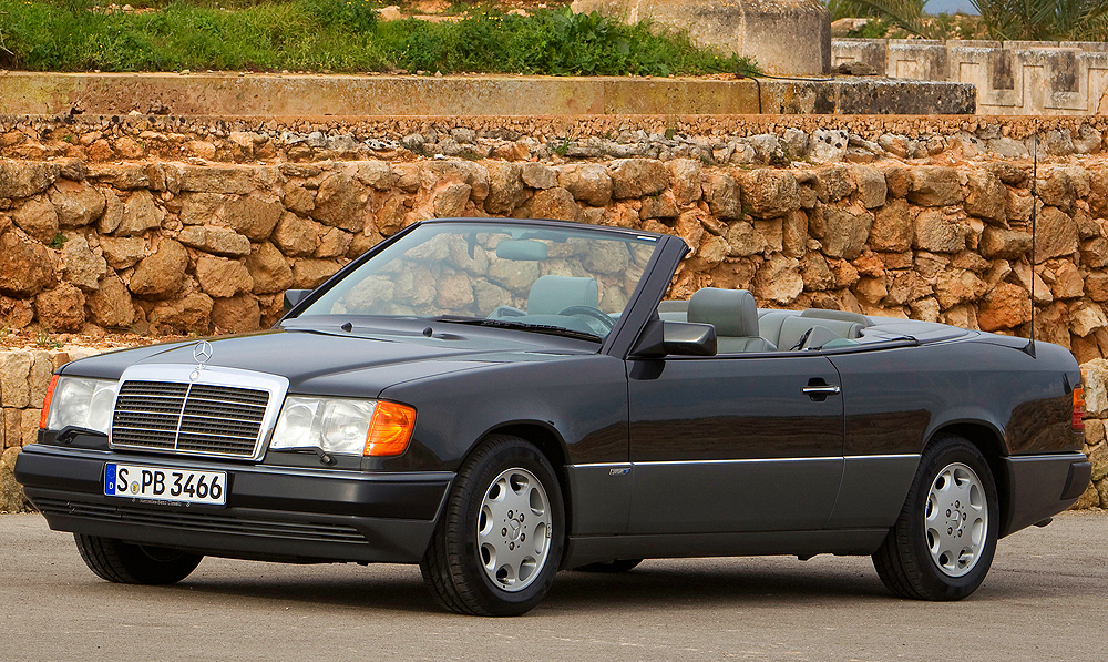 A Euro market 1993 320CE Cabriolet.  (Photo credit: Mercedes-Benz Classic)