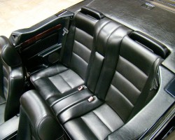 Rear seats were unchanged on all year 124 body Cabriolets.  (Photo credit: A. Schneider)