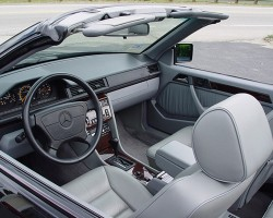 Interior view of a U.S. market 1995 E320 Cabrio (interiors remained unchanged during the production run).  Photo credit: K. Gamborelli