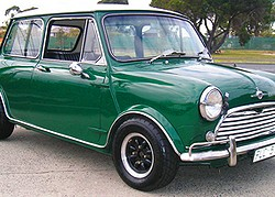 "One known as the ""Morris Mini"" and ""Morris Minor"", the original Mini was produced from 1959 - 2000, remaining unchanged on the outside during the entire run.  Shown is a 1969 model.  (Photo credit: K. Jacobs)"