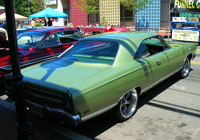 1969 Plymouth Satellite, rear view.  (Photo credit: Sean Connor)