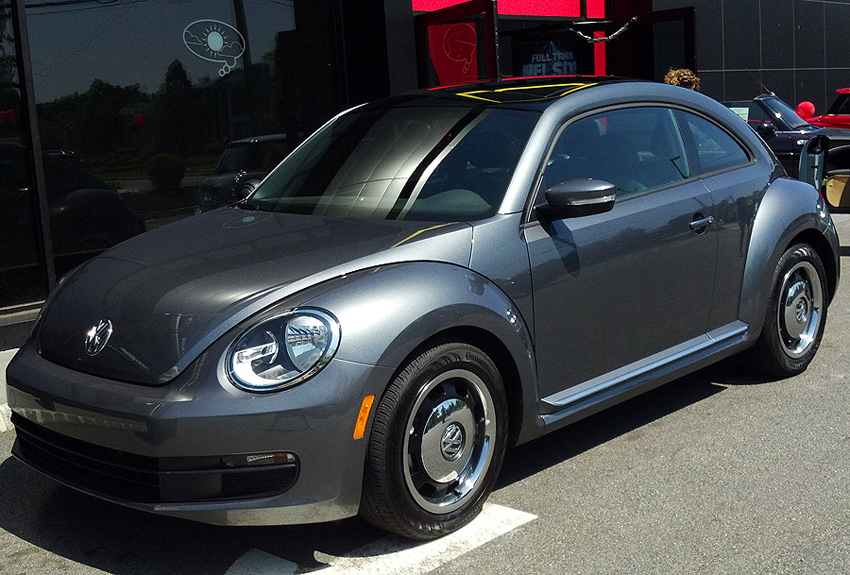 "While most think of the 1998 – 2010 style ""New Beetle"" when talking about the original's return, the new-for-2012 model is a big improvement. Although larger, this year's Beetle design actually is shaped more like the original. (Photo credit: Sean Connor)"