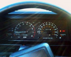 Toyota Corolla SR5 coupe instrument cluster