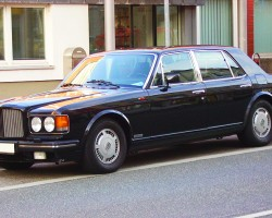 (12 model years)  1986 - 1997 BENTLEY TURBO R.  Although the Bentley Turbo was built on a traditional Rolls Royce body, it brought a monochromatic paint look and better-handling suspensions to the fold.  1989 model shown - Photo credit: F. Clemonts