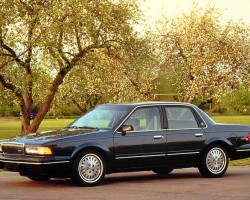 (15 model years)  1982 - 1996 BUICK CENTURY.  GM's first front-wheel-drive family cars were initially sold in Chevy Celebrity, Pontiac 6000, and Olds Ciera form as well.  Only Buick and Olds versions survived long enough to make this list.  1996 model shown - Photo credit: W. Sawyer