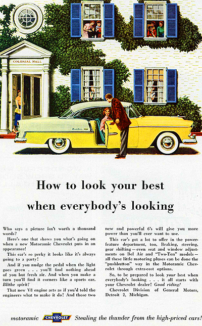 Chevrolet Bel Air / Impala models were the number one best seller from 1949 - 1956.  (Photo credit: General Motors Corporation)