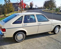 (12 model years)  1976 - 1987 CHEVROLET CHEVETTE.  While the Chevette was General Motors' first answer to the Volkswagen Rabbit, it lacked the VW's front-wheel-drive.  As GM debuted other small cars, it kept the Chevette in production as a low-price leader through 1987.  Here a 1980 model is shown - Photo credit: S. Gibbons