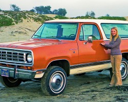 (20 model years)  1974 - 1993 DODGE RAMCHARGER FULL-SIZE.  Influenced heavily by Chevy's Blazer that debuted one year earlier, the RamCharger saw an even longer life span.  Here a 1974 model is shown - Photo credit:  Lance and Cromwell