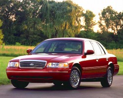 (14 model years)  1998 - 2011 FORD CROWN VICTORIA SEDAN.  Not many modern cars can hold onto one design for long, but the most recent and final Crown Victoria is an example.  Ford originally planned to replace it sooner, but kept it in production alongside other offerings due to its popularity with police and taxi fleet buyers.  1998 model shown - Photo credit: Ford Motor Company