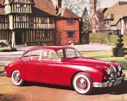 Only two passenger car designs originating in the last 15 years can claim to have lasted long enough to be on this list.  1959 Jaguar Mark II shown