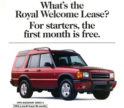 1999 Land Rover Discovery ad