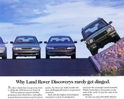 A 2000 Discovery U.S. market advertisement.  (Photo credit: Land Rover USA)