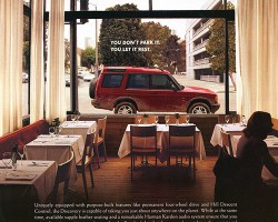A 2002 Discovery U.S. market advertisement.  (Photo credit: Land Rover USA)