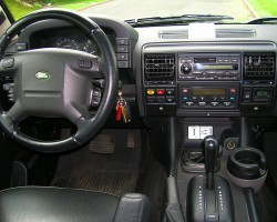 Dashboard view of a 2004 Discovery.  As you can see, little changed over the course of six years.  (Photo credit: Sean Connor)