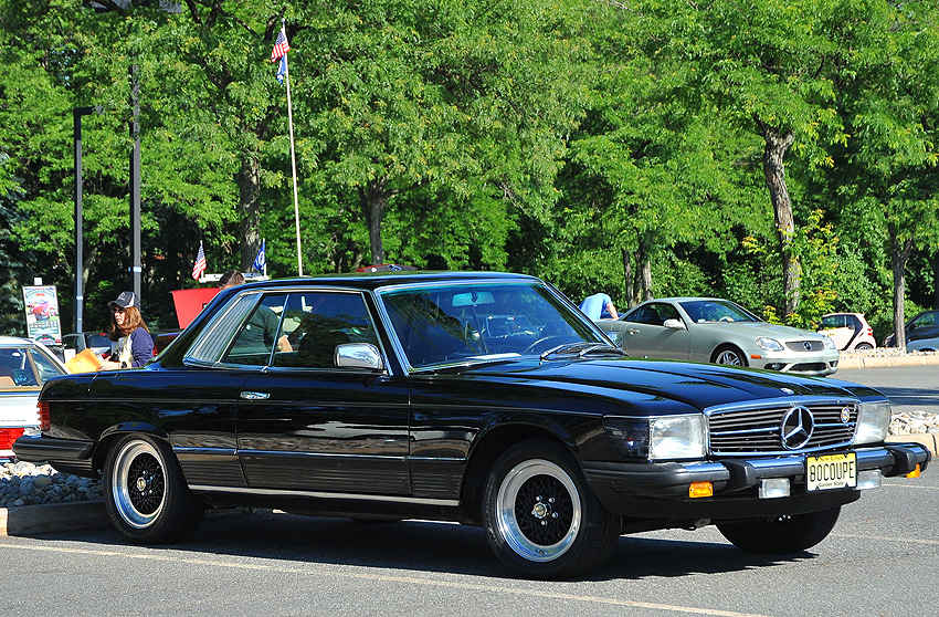 1980 Mercedes 450SLC owned by Michael Goldberg.  (Photo credit: Carl Schwartz)