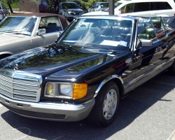 1983 Mercedes long-wheelbase S-Class 1983 380SEL customized convertible.  (Photo credit: Sean Connor)