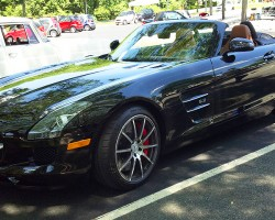 2012 Mercedes SLS convertible.  (Photo credit: Sean Connor)
