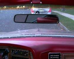 Bench seats were the only kind available on full-size General Motors cars of this era.  A view from the middle front passenger's eyes.  (Photo credit: Sean Connor)