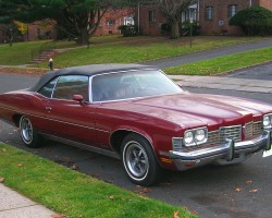 1973 Pontiac Grand Ville convertible right front quarter view